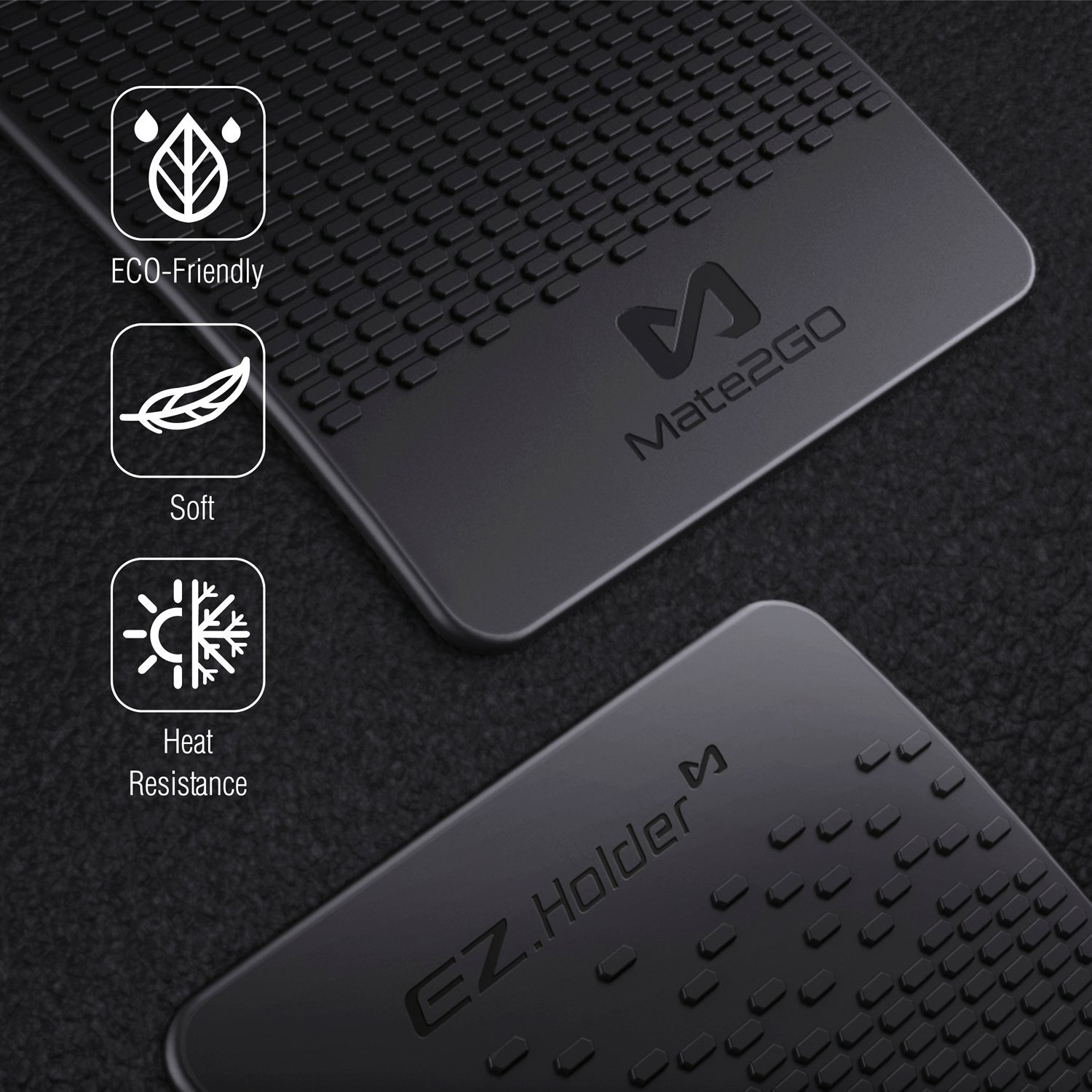 Non Slip Dashboard Gel Pad Mate2GO Anti-Slip Dash Pad Sticky Car Mats for Dashboard to Secure Cell Phones Sunglasses Keys and Cards 3 Pack