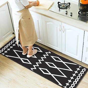 Amazon.de: XUANLAN Küche Teppiche Streifen Öl-beständig rutschfeste ...