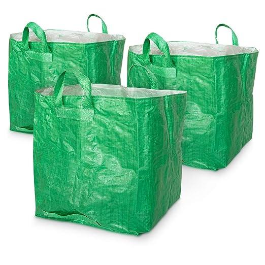 Navaris Set de 3X Sacos Reutilizables para jardín - Bolsa ...