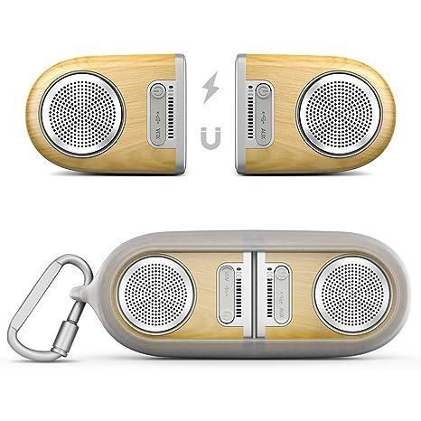 Altavoces Bluetooth portátiles, Smartloong TWS (Verdadero Estéreo Inalámbrico) Altavoces Bluetooth 4.2 con Acoplamiento