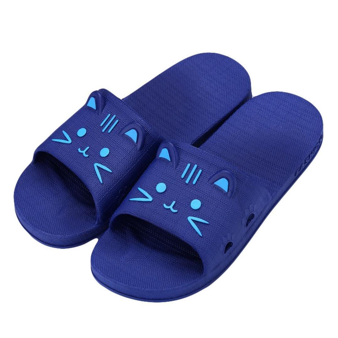 QinMM Hommes Femmes Pantoufles Flip-Flops Tongs 3D Bande Dessin/ée Anim/é Chat Mignon Chaussures de Plage Sandale Bout Ouvert /Ét/é Mode Antid/érapant Imperm/éable Souple