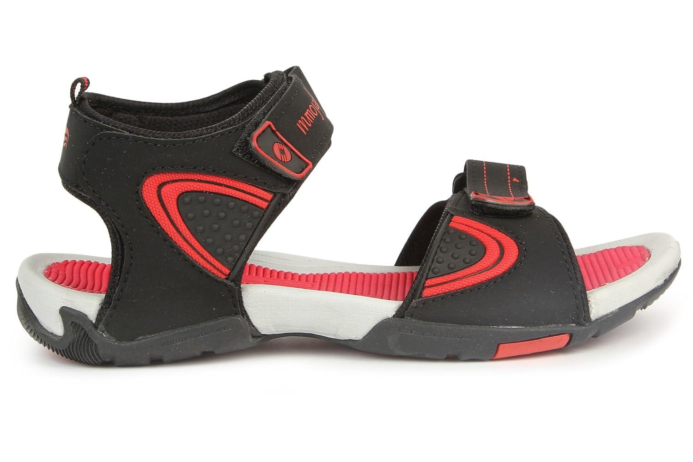 Mmojah Mens Walker Black/Red Sandal -6 HS4wBZ4