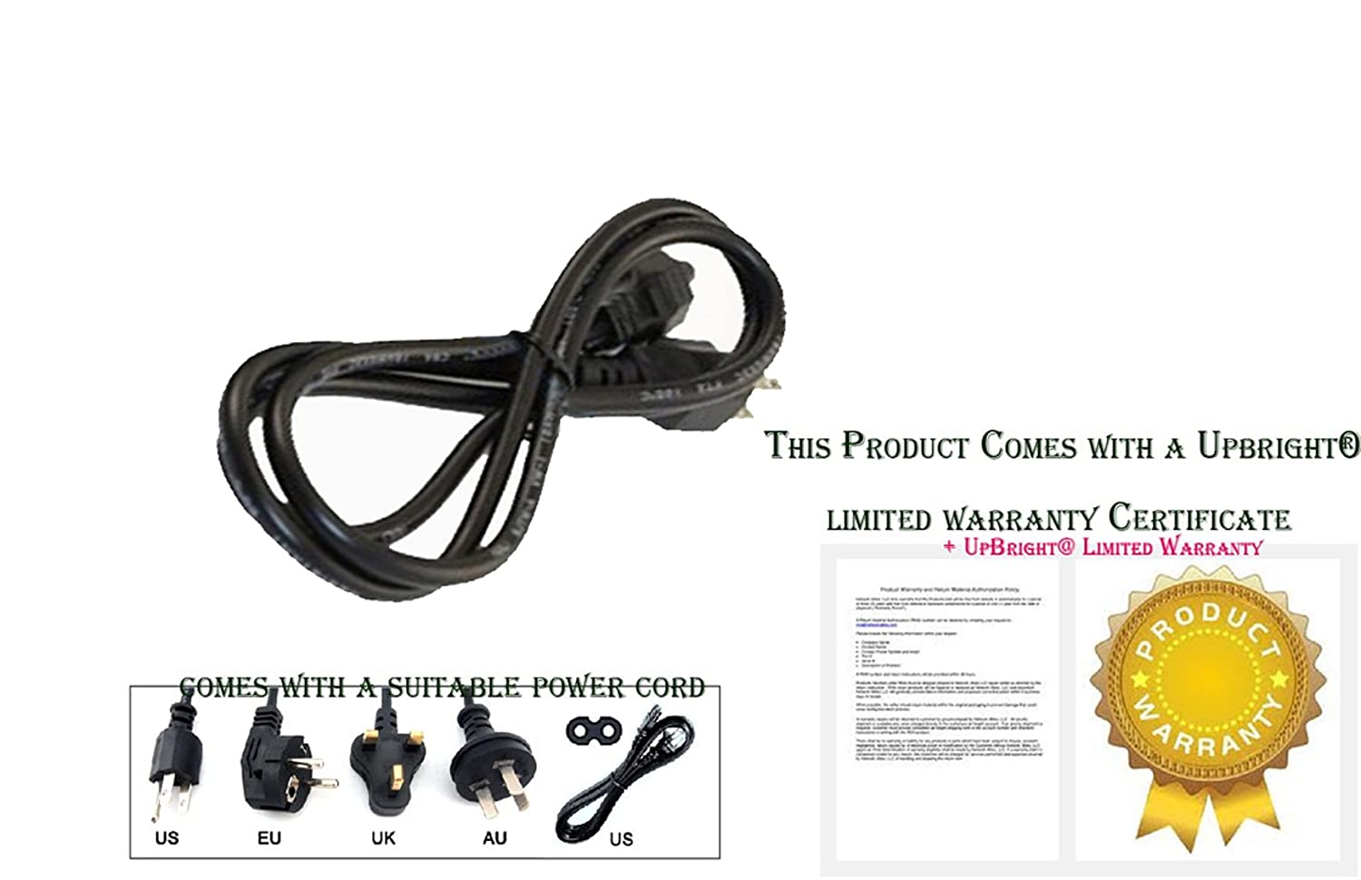 AC Power Cord Cable For SANSUI SLED1953W SLED2453W CEL758B SLEDVD226D SLED1945
