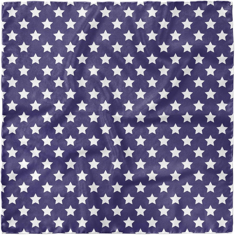 Hair Wrap Flag with Stars Ambesonne American Head Scarf