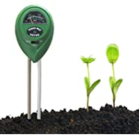 EasyULT Bodemtester, bodemvochtigheidsmeter, 3-in-1 bodem-pH-meter voor vocht/zonlicht/pH voor plantenaarde, tuin…