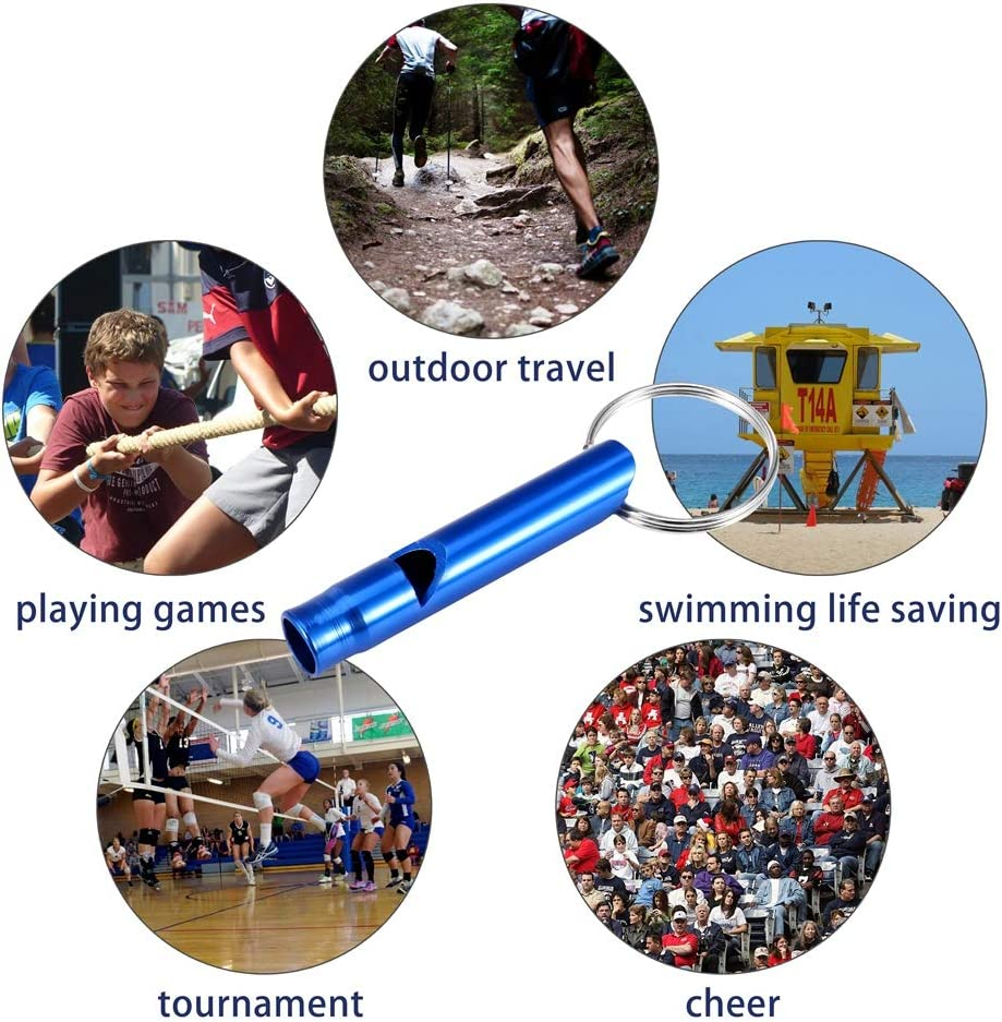 Notrufpfeife Whistle Trillerpfeife f/ür Camping Wandern Jagd Outdoor Sport,mit Schl/üsselringe 7 Farben Girlslove talk 14 St/ücke Aluminiumlegierung Sport Pfeife