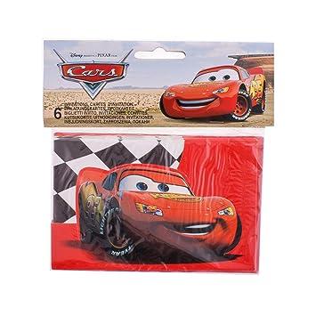Disney Cars Tarjetas De Invitación Cars Speed Amazon Es