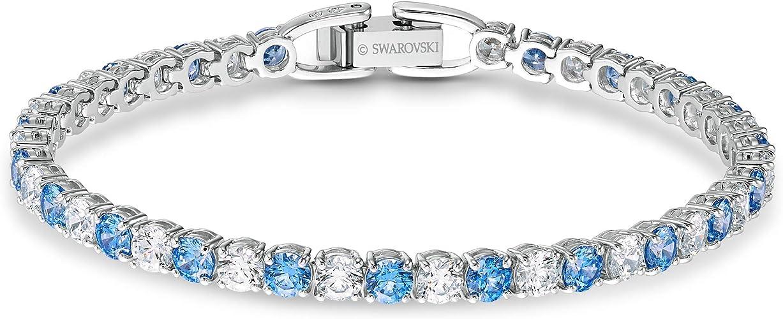 Sparkling vintage sterling silver studded crystals tennis bracelet