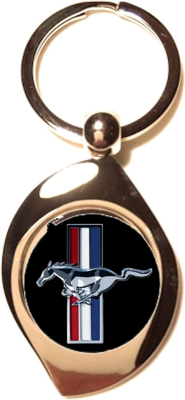 Portachiavi Zen in Metallo Argentato Print Corner Ford Mustang