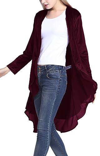 Cárdigan drapeado chaqueta abierta de moda para mujeres