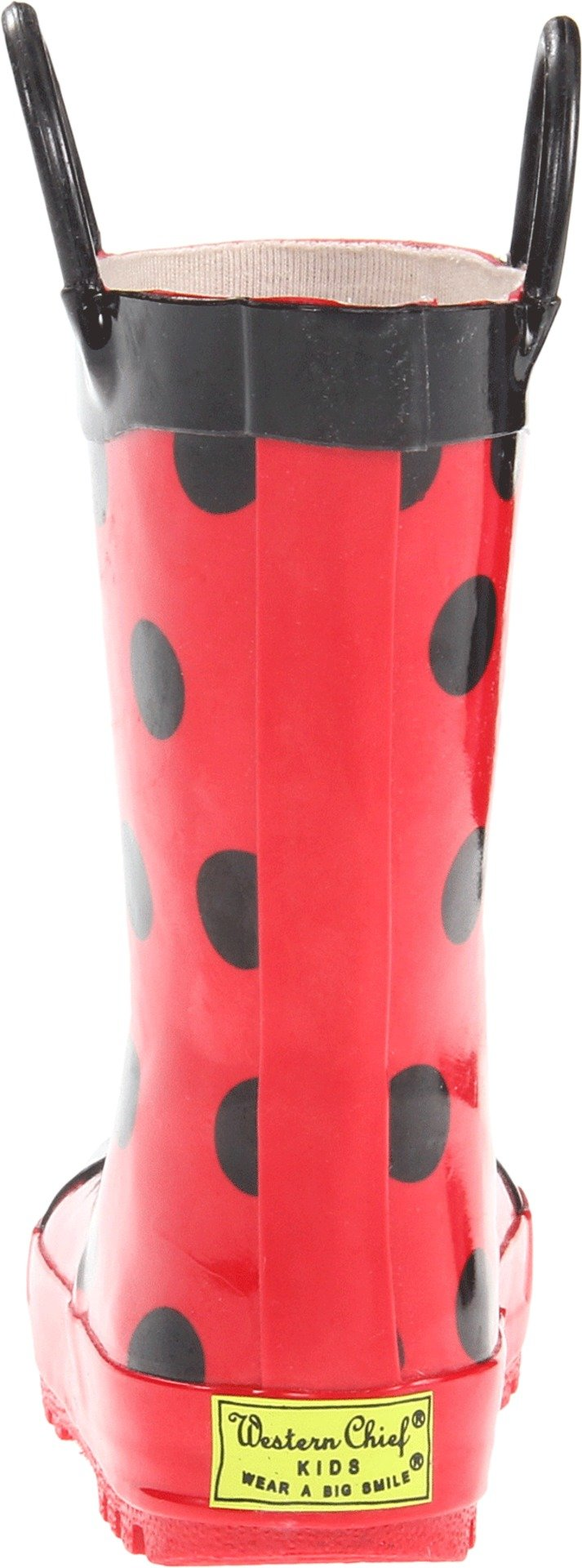 Western Chief Girls Waterproof Printed Rain Boot with Easy Pull on Handles, Lucy the Ladybug, 11 M US Little Kid by Western Chief (Image #2)
