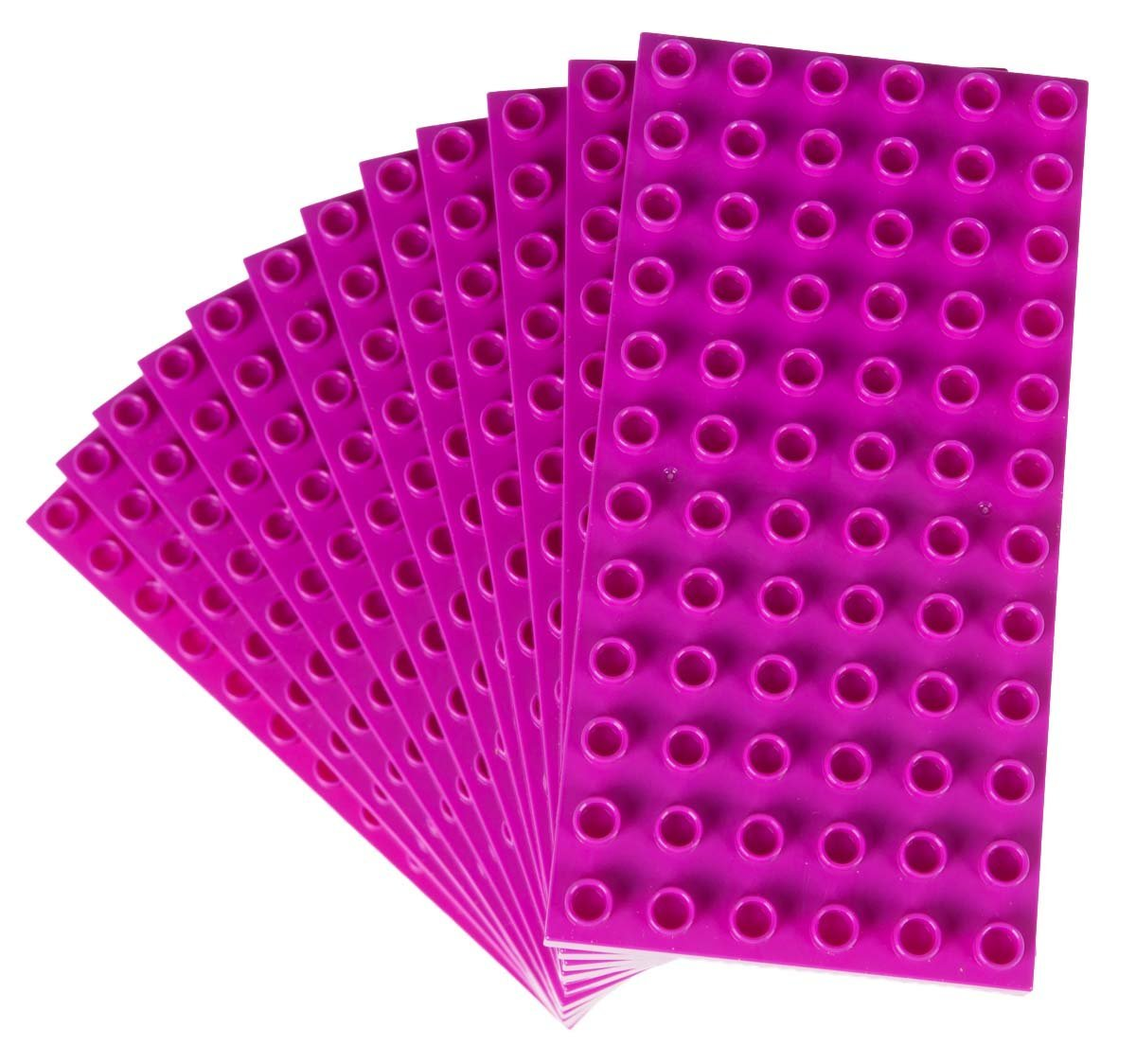 "Classic Big Briks Baseplates by Strictly Bricks | Premium 7.5"" x 3.75"" Large Brick Building Base Plates 