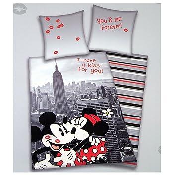 Disney Bettwäsche übergröße 155 X 220 Cm Mickey Und Minnie Mouse