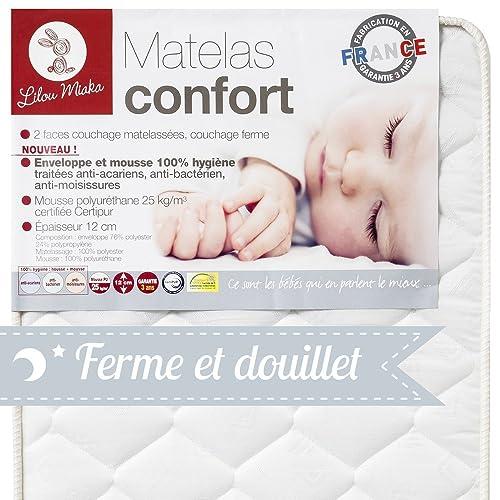 LILOU MIAKA - Matelas bébé Confort -  pour lit 70 x 140