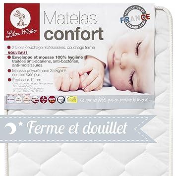 Lilou Miaka Matelas Bébé Confort Pour Lit 60 X 120 Amazonfr