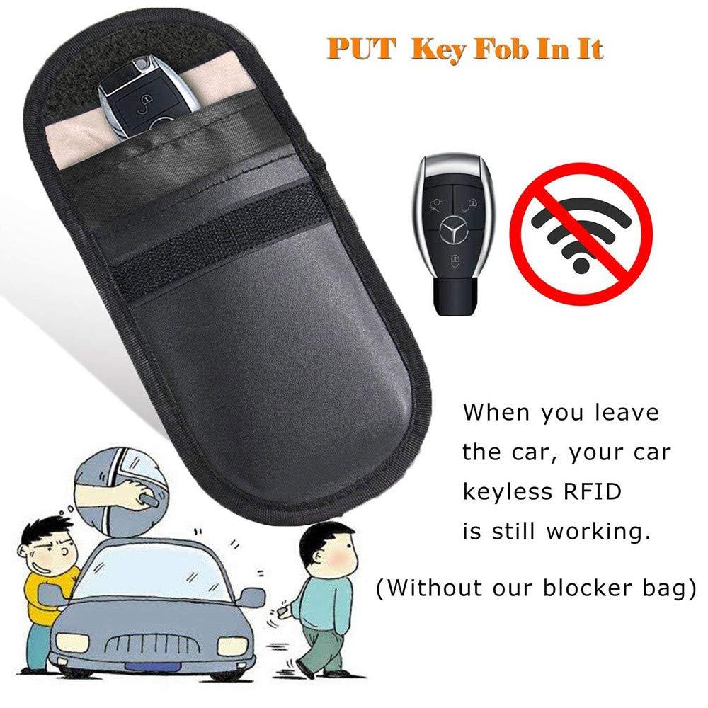 MONOJOY 2 X Car Key Signal Blocker Case, Keyless Entry Fob Guard Signal  Blocking Pouch Bag, Antitheft Lock Devices, Healthy Cell Phone Privacy