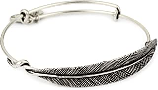 product image for Alex and Ani Women's Quill Feather Bangle