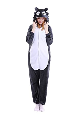 Amazon.com  Women Mens One Piece Kigurumi Cosplay Outfit Costume Wolf   Clothing 57058c4ce0