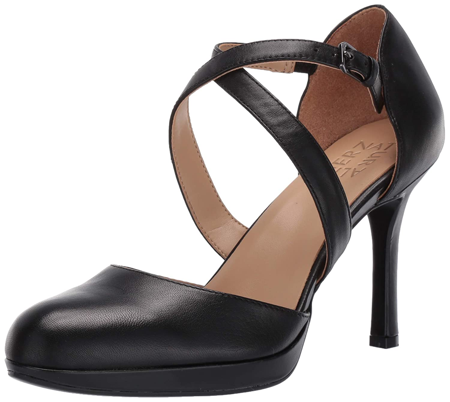 Black Leather Naturalizer Womens Cruzen Pump