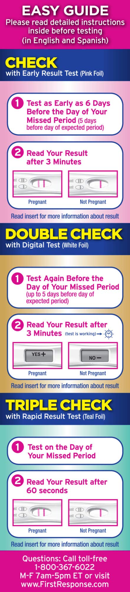 First Response Triple Check Pregnancy Test 3 ct. by First Response (Image #5)