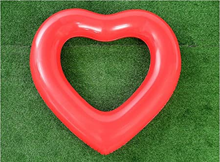 Anillo De Natación En Forma De Corazón Inflable Engrosamiento PVC Piscina Fiesta En La Playa Juguetes Flotantes Agua Inflable Amor Fila Flotante Adulto ...