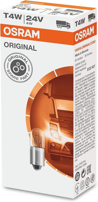 Osram O3930 Original 3930 BA9s 24V 4W T4W, Set de 10