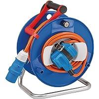 Brennenstuhl camping kabeltrumma med 20 m kabel i orange (CEE kabeltrumma med CEE-vinkelkoppling inklusive skyddskontakt…
