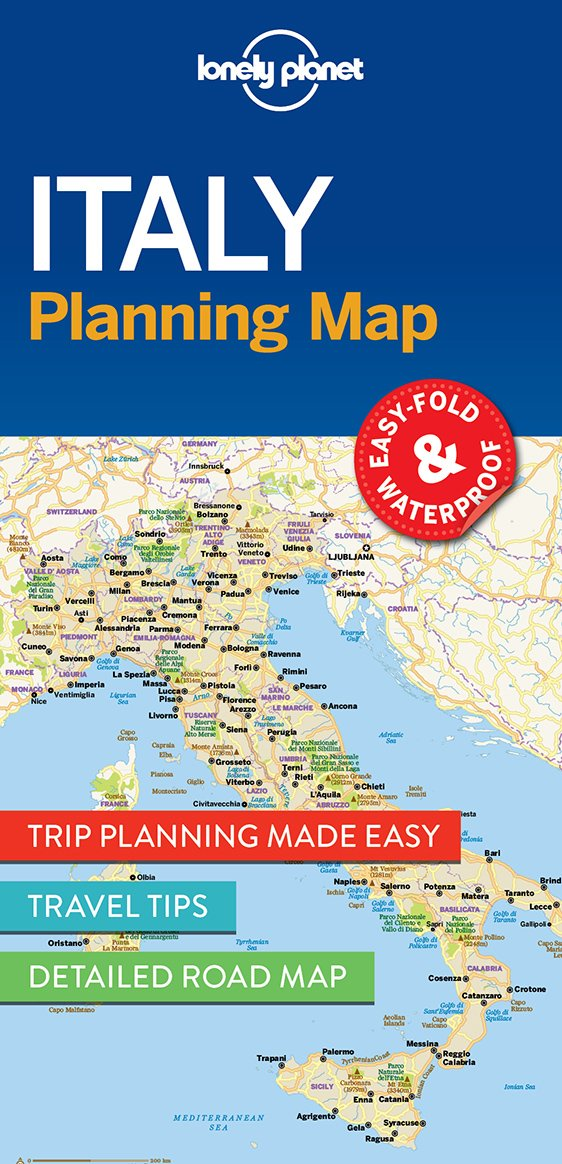 Italy Planning Map Travel Guide Lonely Planet 9781786579072