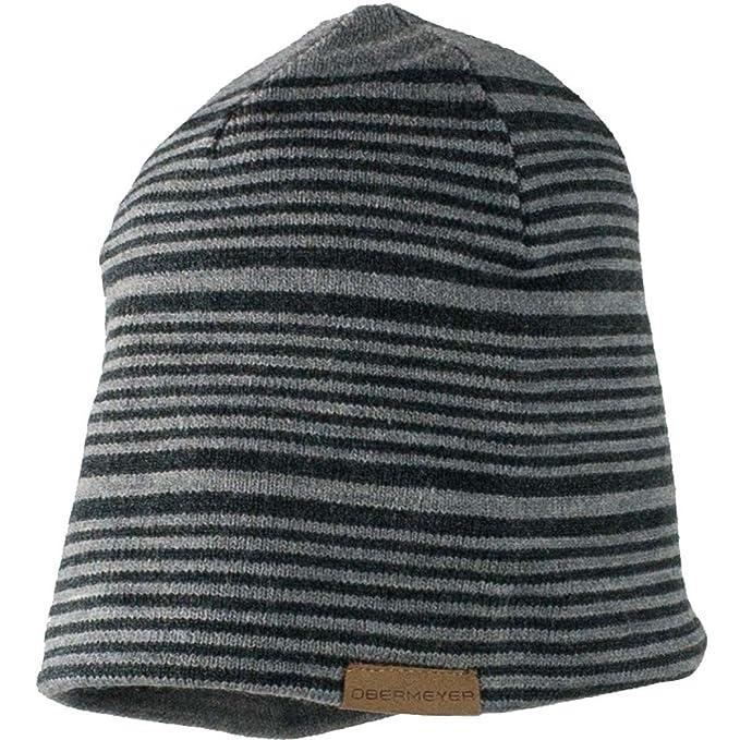 0d755a65bf7 Amazon.com  Obermeyer Mens Striper Knit Hat (Light Heather Grey ...