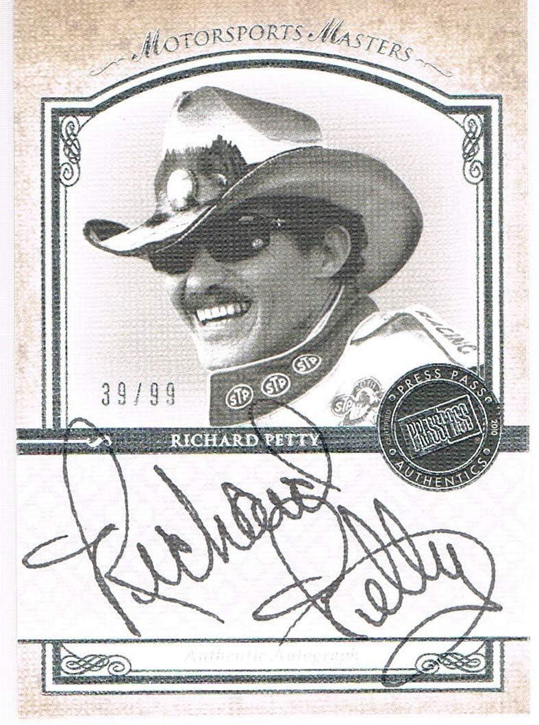 2010 Press Pass RICHARD PETTY Legends Motorsports Masters Autographs Silver #d 39/99