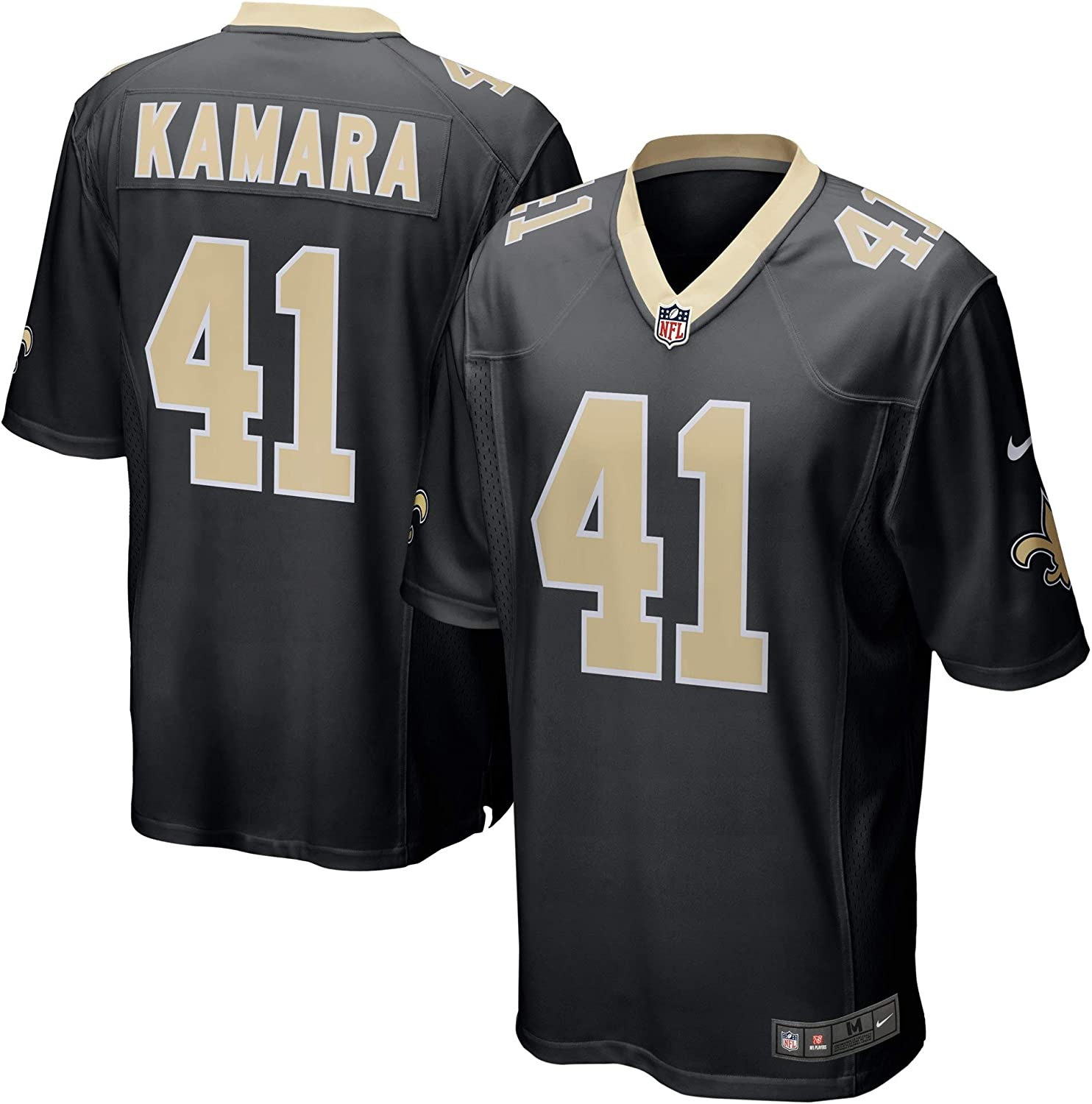 Black Nike Alvin Kamara New Orleans Saints Youth Boys Game Jersey