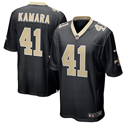 f45e29f9b2f Nike Alvin Kamara New Orleans Saints Youth Boys Game Jersey - Black Youth  Small (8