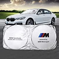 N/B BMW Car Windshield Sun Shade Front Window Windshield Blocks UV Rays Sun Visor Protector Sunshade fit BMW 1/3/M…