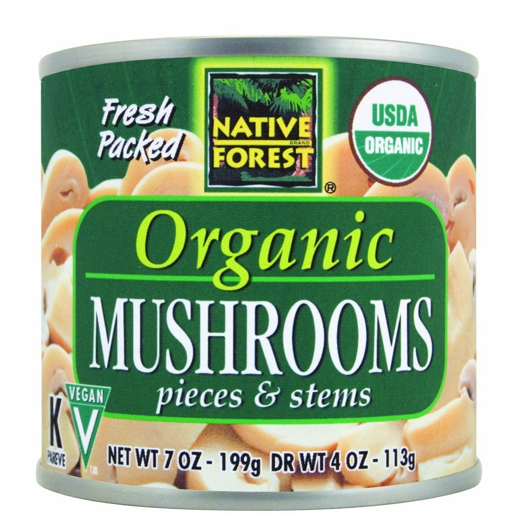 Native Forest, Organic Mushrooms, Pieces & Stems, 12/7 Oz