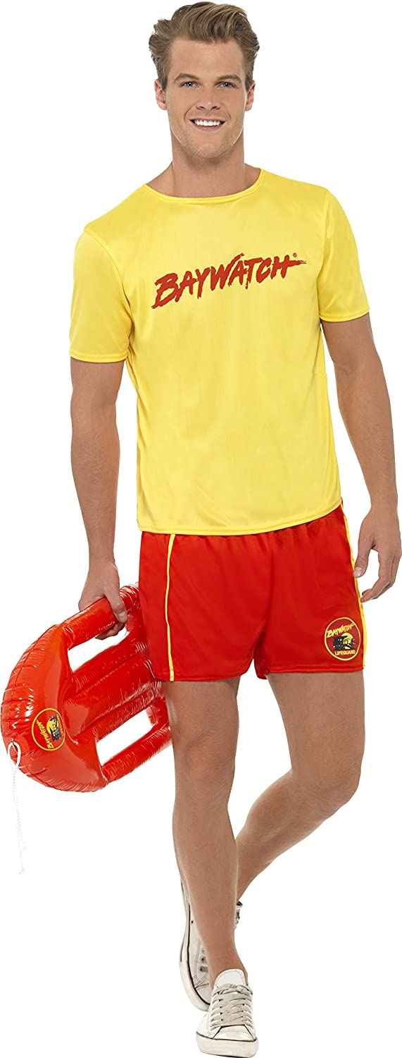 Smiffy's Baywatch Men's Beach Costume with Top and Shorts. Medium or Large. Next day delivery available if ordered before 2pm.