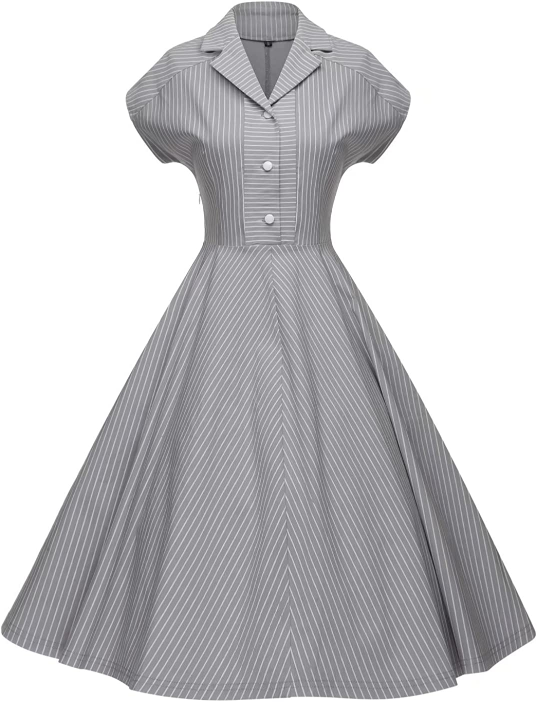 Vintage Shirtwaist Dress History GownTown Womens 1950s Retro Vintage Cocktail Party Swing Dress $34.99 AT vintagedancer.com