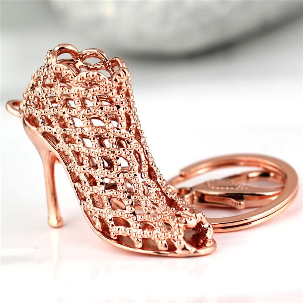 af4d4ba5974 JewelBeauty Cute Lovely High Heeled Shoes Heels Rhinestone Crystal Keychain  Charm Pendent Beautiful Accessories Best Gift for Girl Women Purse Charm ...