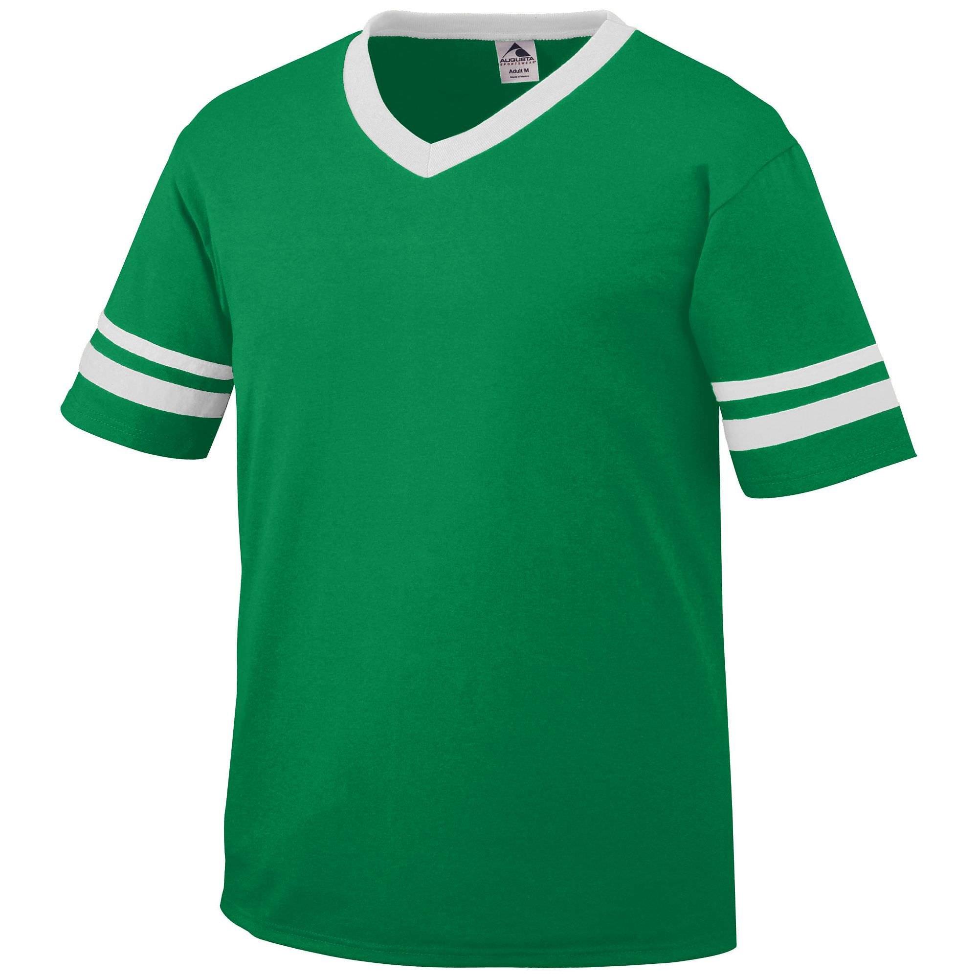 Augusta Sportswear Augusta sleeve Stripe Jersey, Kelly/White, XX-Large