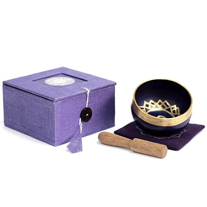 Juego de cuenco para cantar de 7 chakras en caja de regalo ...