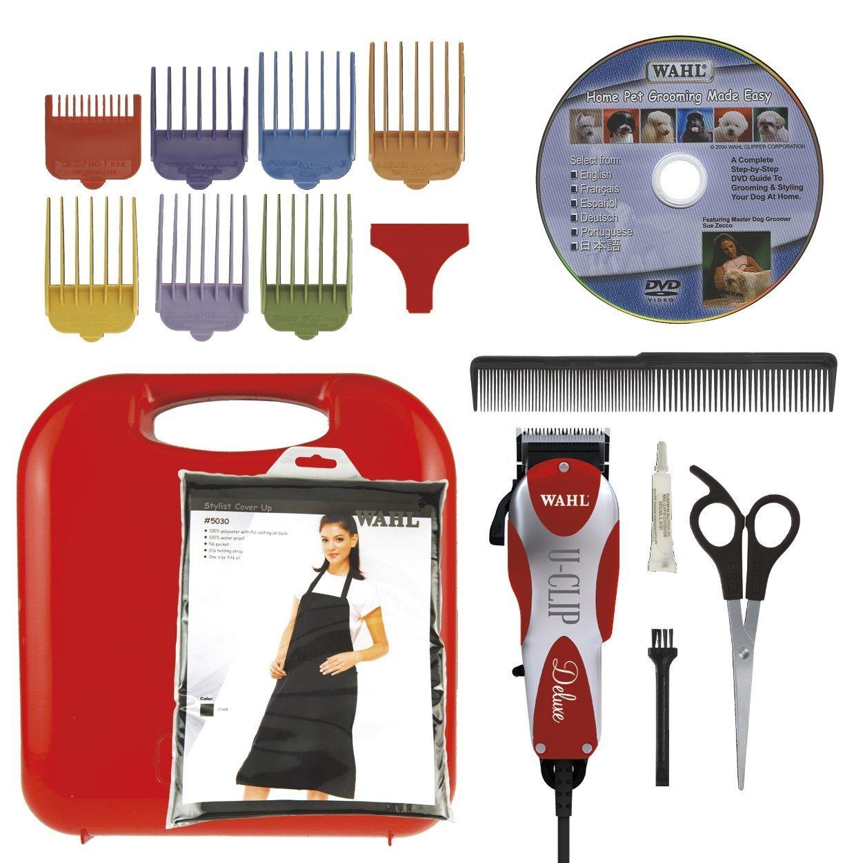 Wahl Professional Animal Deluxe U-Clip Pet Grooming Kit 17 pc set with Bonus Blade Brush