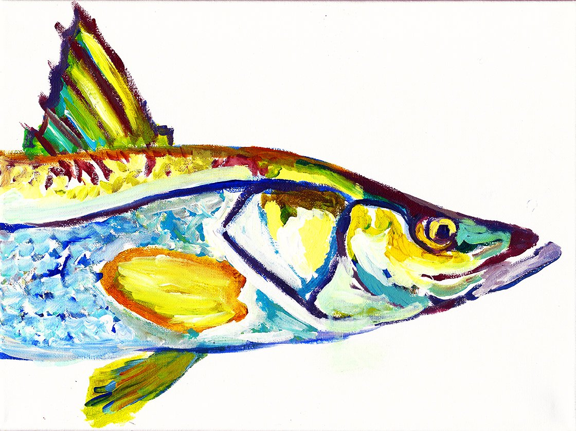 Snook Art Print, Fishing Gift - Snook Fishing Wall Art Decor, Hand Signed By Jack Tarpon, Snook Fish Wall Art.