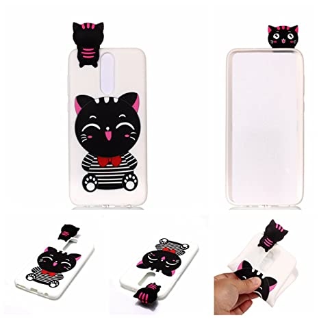 Amazon.com: Case for Huawei Mate 10 lite (5.9 inch) LJSM White cat TPU Soft Silicone Protection Bumper Fashion Skin back Shell Cover: Cell Phones & ...