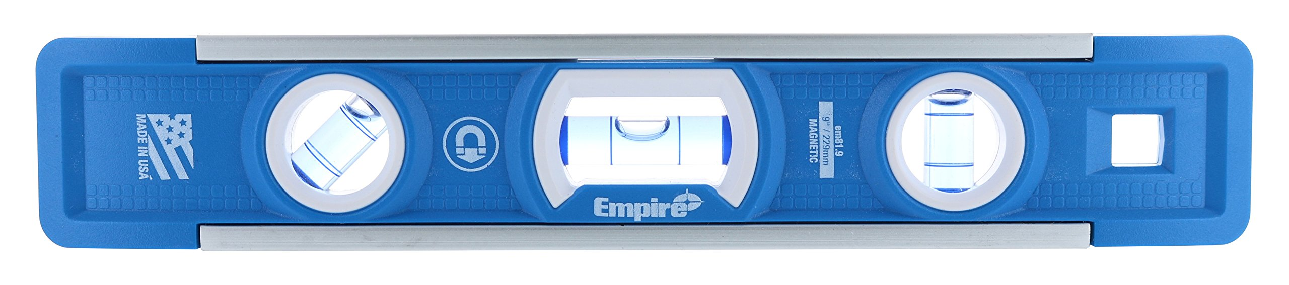 Empire EM81.9 True Blue 9-Inch Heavy-duty Magnetic Aluminum Torpedo Level (Twin Pack) by EMPIRE (Image #3)