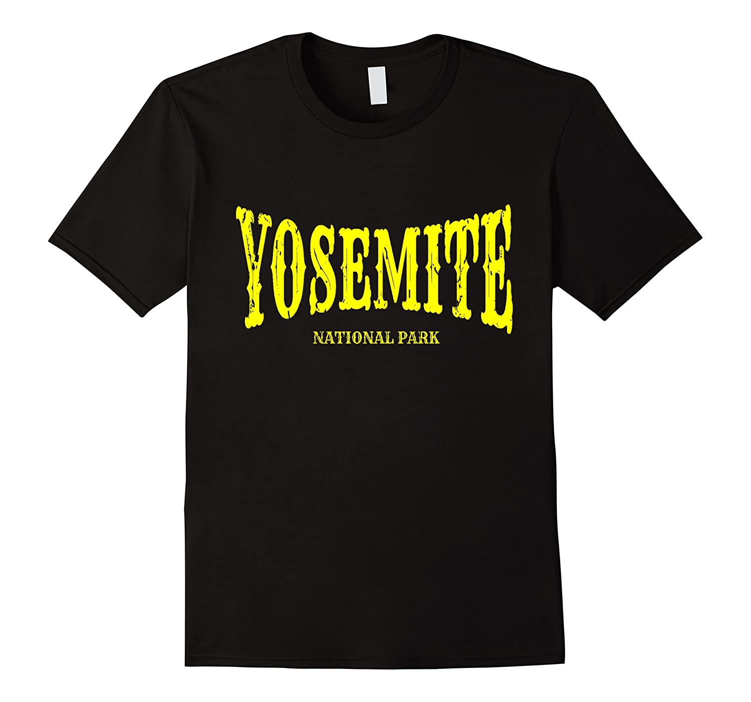 Yosemite National Park T-Shirt with Yellow Text-TH