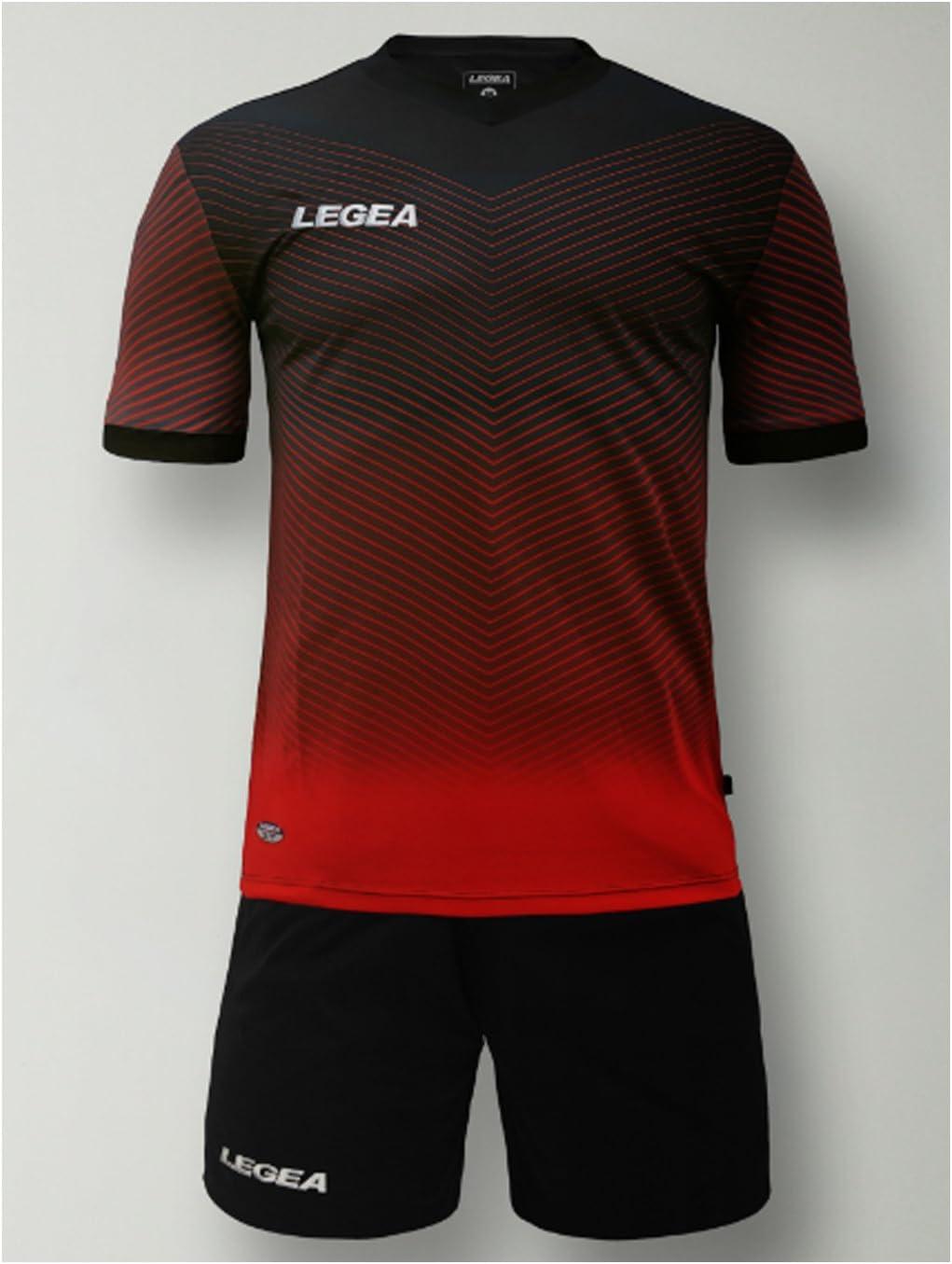 LEGEA Kit Bilbao Futbolín completo camiseta y pantalón deportivo Torneo, negro-rojo, S: Amazon.es: Deportes y aire libre
