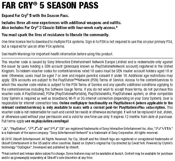 Far Cry 5 Season Pass Xbox One Download Code Amazon Co Uk Pc Video Games