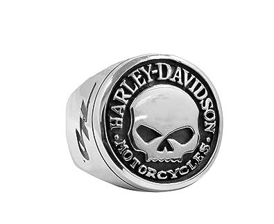 barnett harley davidson harley davidson mens circle willie g skull rh amazon com Harley- Davidson Stencil Patterns Harley-Davidson Logo Clip Art