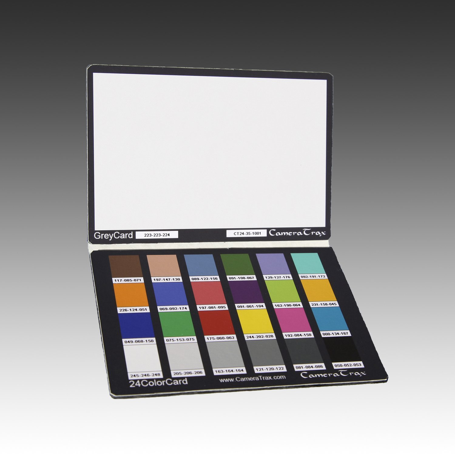 CameraTrax 24ColorCard-3x5 (OneSnapColor) with White Balance and User Guidebook by CameraTrax