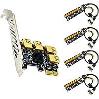 4 Port PCIe Riser Adapter Board PCI-E 1x to 4 USB 3.0 PCI-E Rabbet GPU