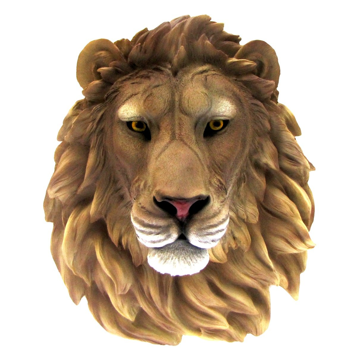 Life Size 3D Wall Mount African Lion Resin Head Kids Childrens Room Jungle Decor